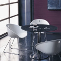 Gliss 920 fauteuil, Pedrali blanc, pieds chrome