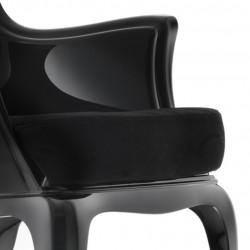 Pasha 660.3 coussin pour fauteuil Pasha 660, Pedrali velours noir