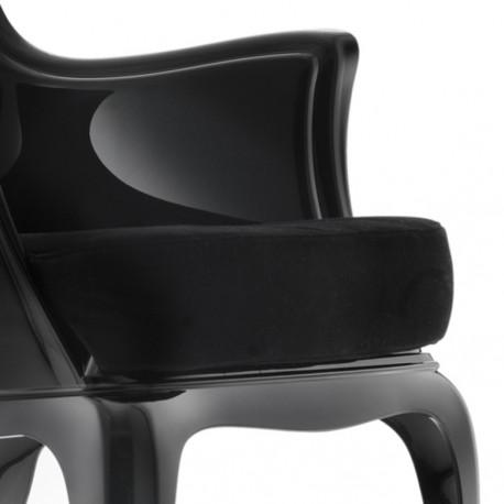 Pasha 660.3, lot de 2 coussins pour fauteuil Pasha 660, Pedrali velours noir