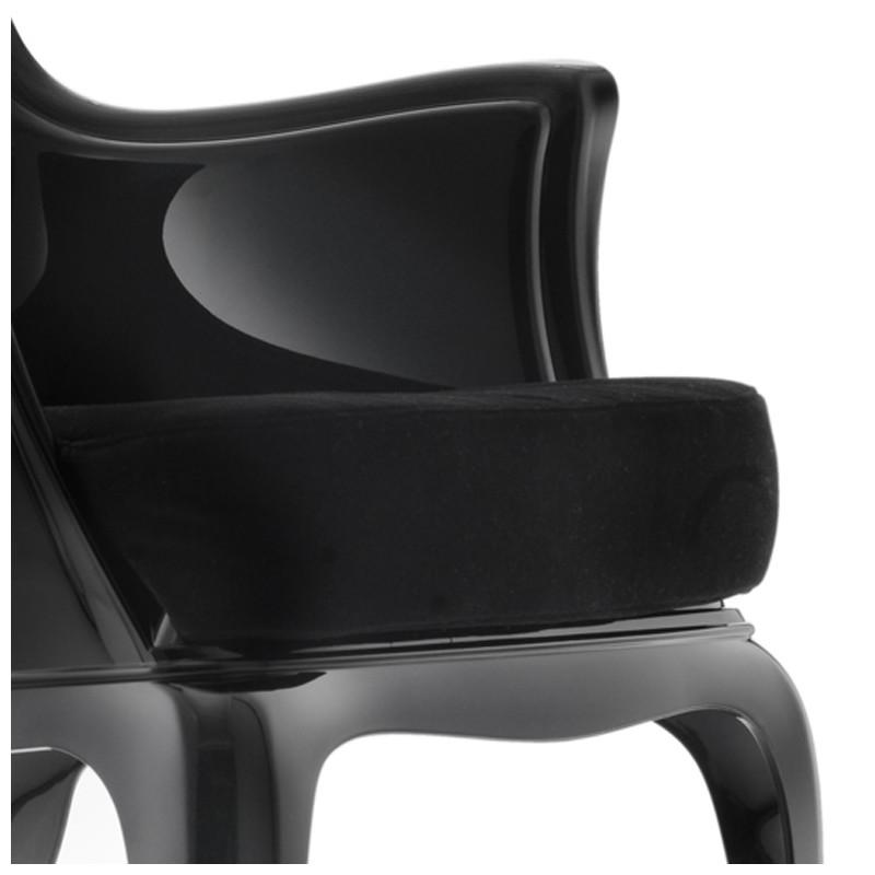 pasha 660 3 lot de 2 coussins pour fauteuil pasha 660 pedrali velours noir cerise sur la deco. Black Bedroom Furniture Sets. Home Design Ideas
