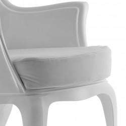 Pasha 660.3, lot de 2 coussins pour fauteuil Pasha 660, Pedrali velours blanc