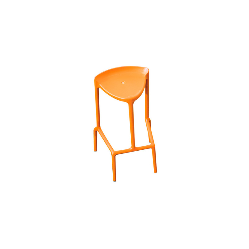 grande vente 314c1 2fc67 Happy 490 tabouret, Pedrali orange