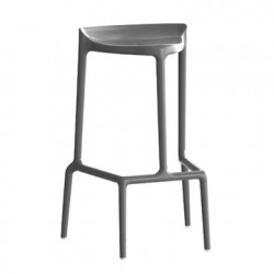 Happy 490 tabouret, Pedrali gris anthracite