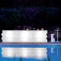 Elément droit Bar Tetris lumineux, Pedrali blanc