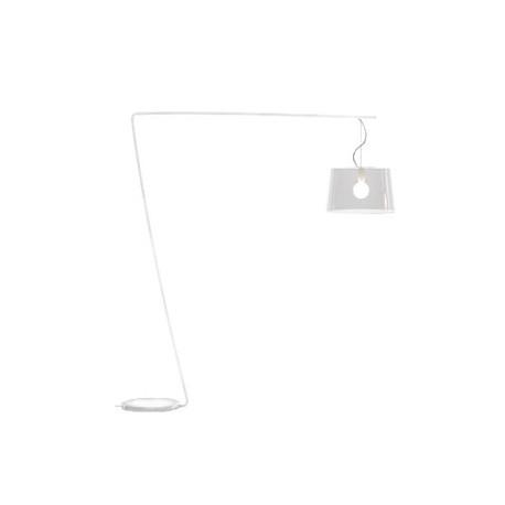 Lampadaire L001T/B, Pedrali transparent / blanc