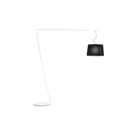 Lampadaire L001T/B, Pedrali noir / blanc