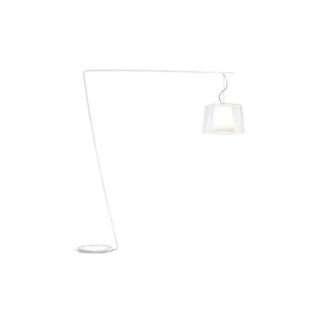 Lampadaire L001T/BA, Pedrali transparent / blanc