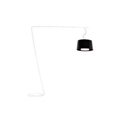 Lampadaire L001T/BA, Pedrali noir / blanc