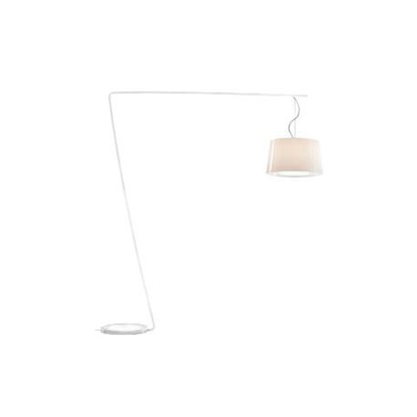 Lampadaire L001T/BA, Pedrali blanc / blanc