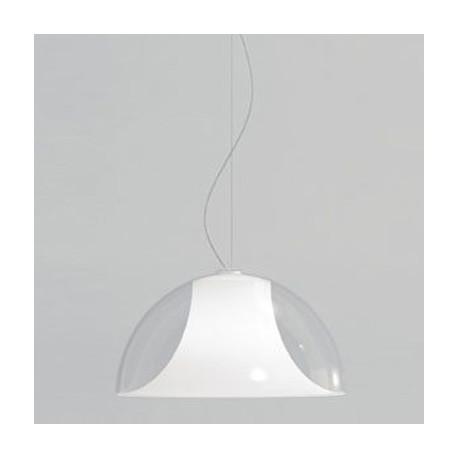 Suspension L002S/BA, Pedrali transparent / blanc