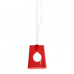 Suspension L001S/A, Pedrali rouge transparent