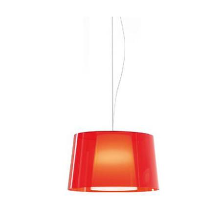 Suspension L001S/BA, Pedrali rouge transparent / blanc