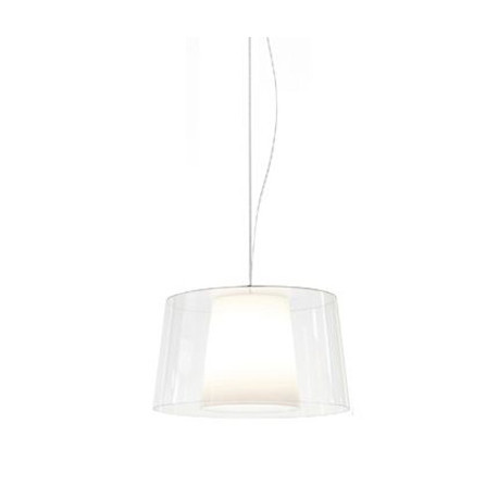 Suspension L001S/BA, Pedrali transparent / blanc
