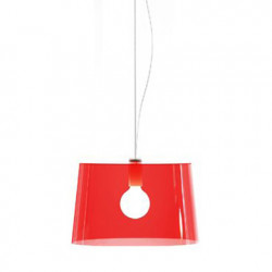 Suspension L001S/B, Pedrali rouge transparent