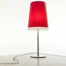Lampe à poser L001TA, Pedrali rouge transparent