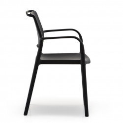 Chaise avec accoudoirs Ara 315, Pedrali noir