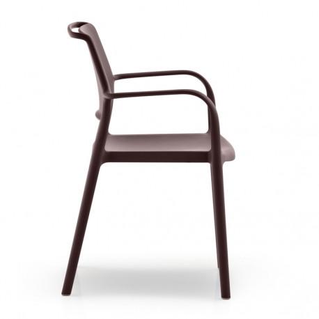 Chaise Avec Accoudoirs Ara 315 Pedrali Marron