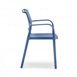 Chaise avec accoudoirs Ara 315, Pedrali bleu