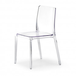 Blitz 640 chaise, Pedrali transparent