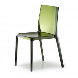 Blitz 640 chaise, Pedrali vert transparent