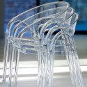 Chaise Gossip 620, Pedrali transparent