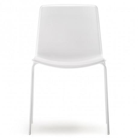 Chaise Tweet 890, Pedrali blanc Pieds chromés