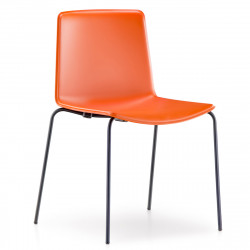 Chaise Tweet 890, Pedrali orange Pieds chromés