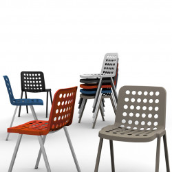 Koi-Booki 370 chaise, Pedrali noir