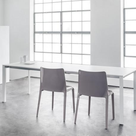 More, table à rallonges, Pedrali blanc 140x85cm