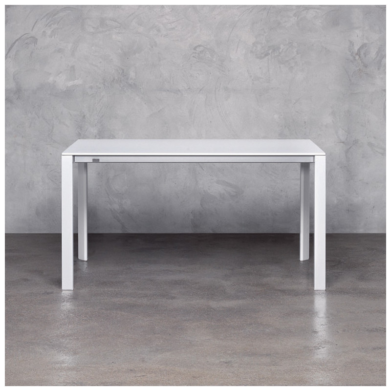 More table rallonges pedrali blanc 140x85cm cerise for Table 85 address