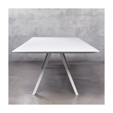 Arki, grande table design, Pedrali blanc 200x100 cm