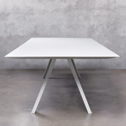 Arki, grande table design, Pedrali blanc 240x120 cm