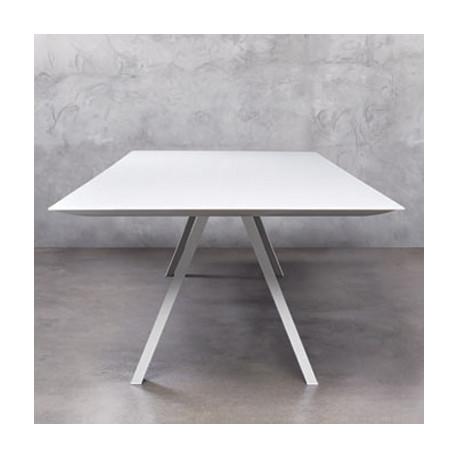 Arki, grande table design, Pedrali blanc 360x120 cm