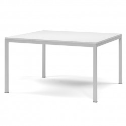 Kuadro table carrée, Pedrali blanc L120x120cm