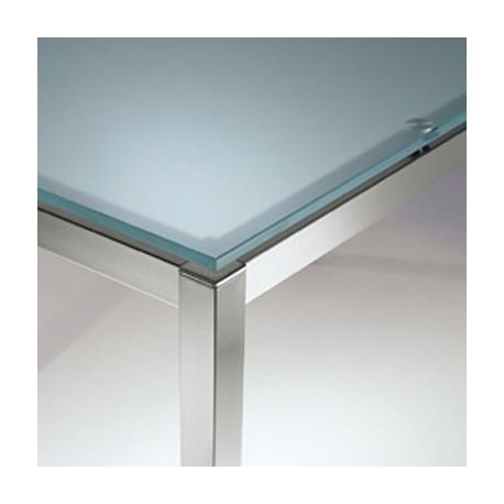 Kuadro table carrée, Pedrali, plateau en verre dépoli 120x120cm