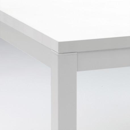 Kuadro table rectangulaire, Pedrali blanc L120x69cm