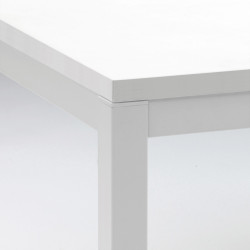Kuadro table rectangulaire, Pedrali blanc L140x80cm