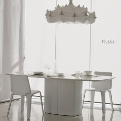 Aero, table design, Pedrali blanc L220 cm,