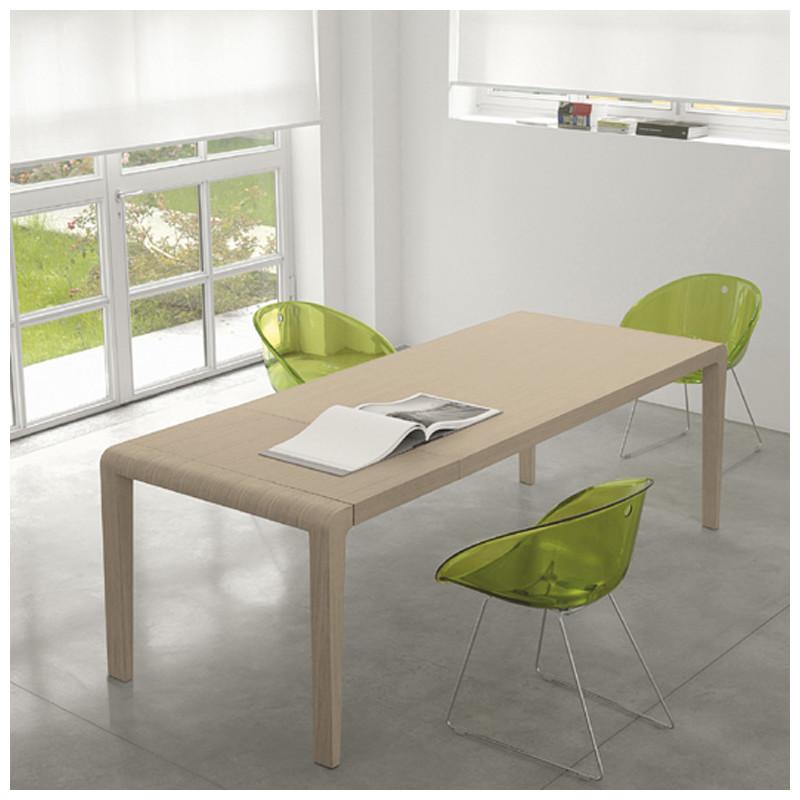 Exteso, table à rallonges, Pedrali chêne clair L178-278 cm - Cerise ...
