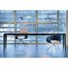 Exteso, table à rallonges, Pedrali chêne teinté wengé L178-278 cm