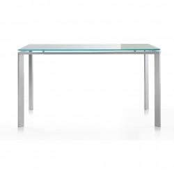Logico, table rectangulaire, Pedrali verre opaque 140x80cm