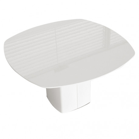 Aero, table carrée, Pedrali blanc L130 cm