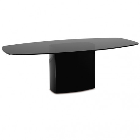 Aero, table carrée, Pedrali noir L130 cm