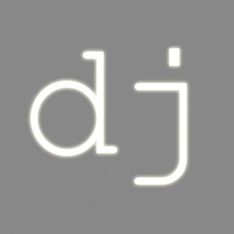 DJ, mot néon, Seletti blanc