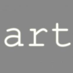Art, mot néon, Seletti blanc