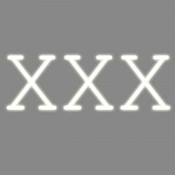XXX, mot néon, Seletti blanc