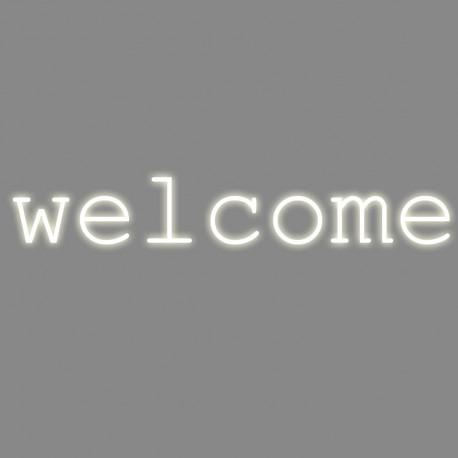Welcome, mot néon, Seletti blanc