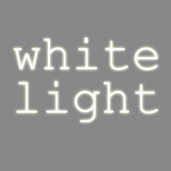 White light, mots néon, Seletti blanc