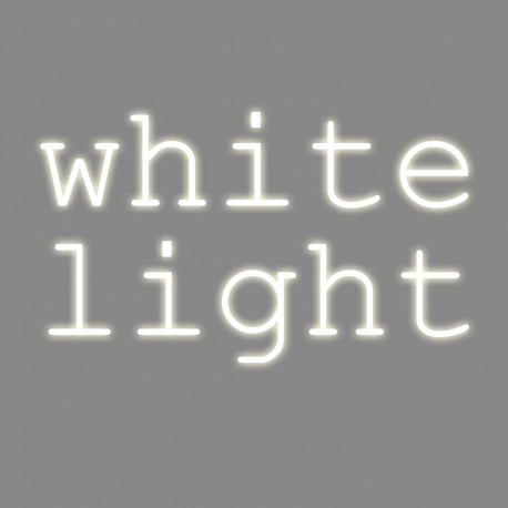 White light, mots néon, Seletti blanc