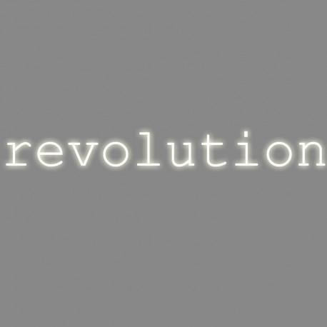 Revolution, mot néon, Seletti blanc